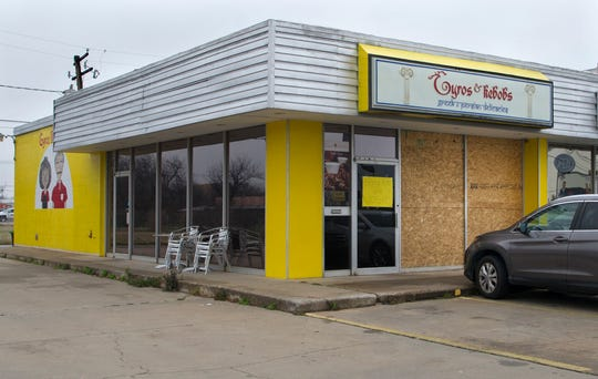 Gyros & Kebobs, located at 3104 Kemp Blvd., is reportedly closed until further notice after an alleged suspect used a metal pipe to break the restaurant's front windows Friday morning.