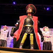 "Jared Gantzer plays Lord Farquaad in the Zane Trace Players' production of ""Shrek the Musical."""