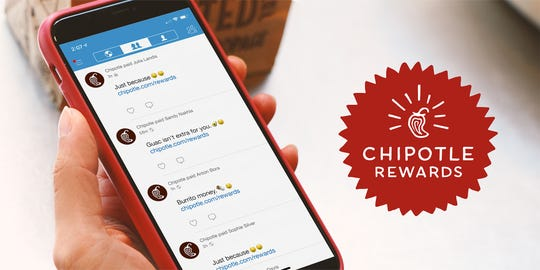 Chipotle Rewards is available nationwide.