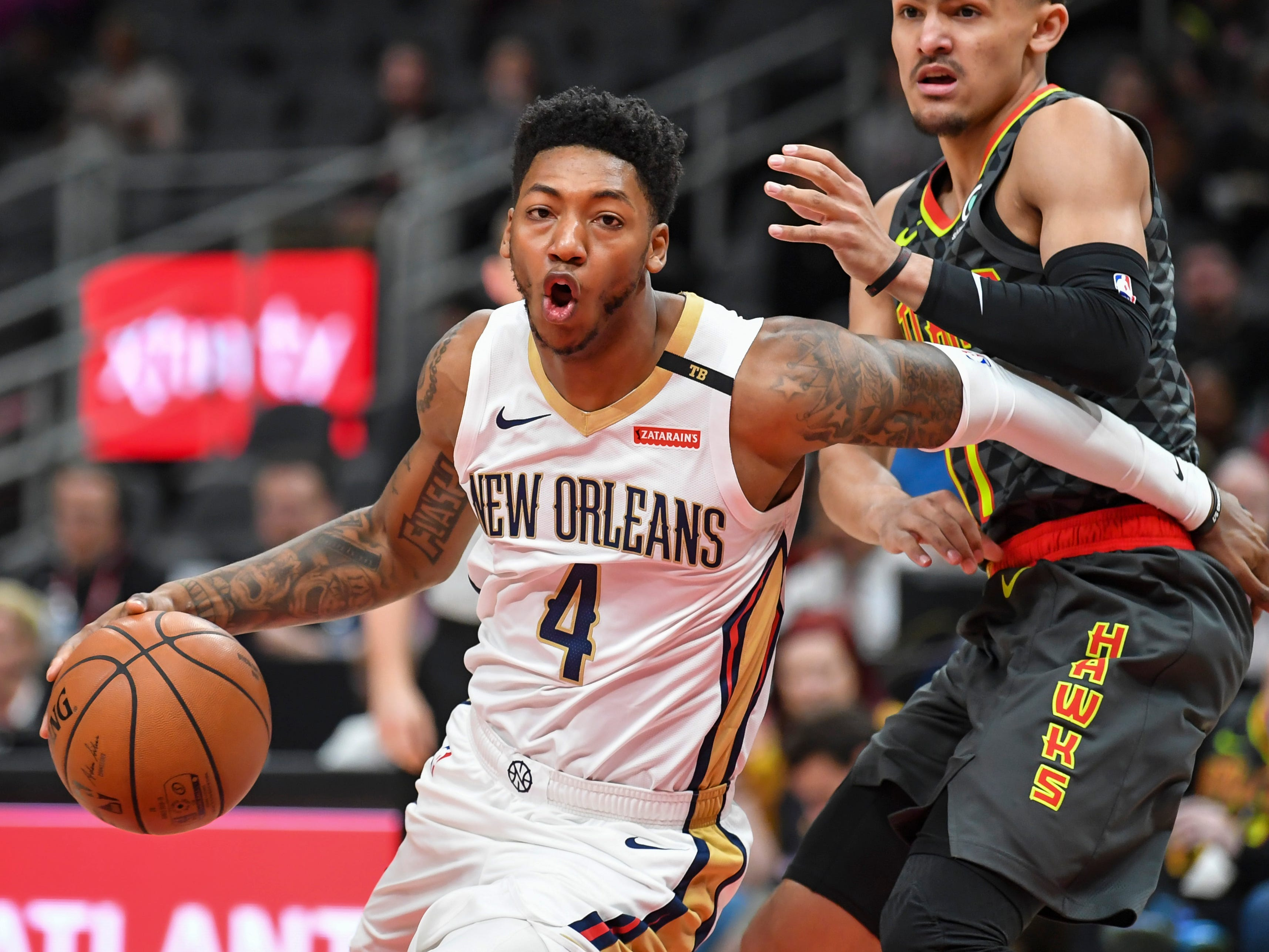 97. Elfrid Payton, Pelicans (March 10): 15 points, 10 assists, 10 rebounds in 128-116 loss to Hawks (second of season).