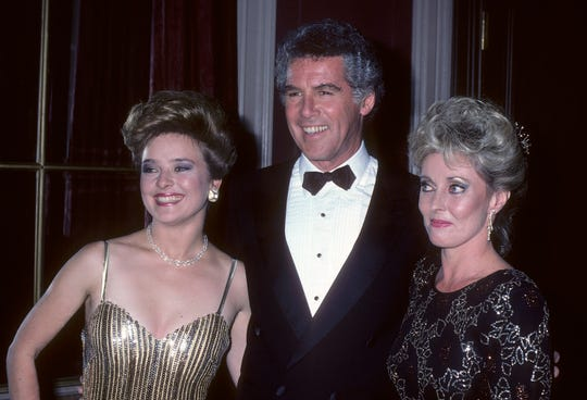 Actress Robin Mattson, actor Jed Allan and actress Judith McConnell attend the 13th Annual Daytime Emmy Awards on July 17, 1986 at the Waldorf-Astoria Hotel in New York.
