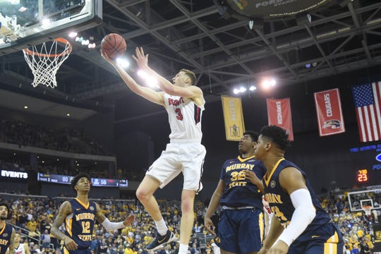 Belmont came up short in the OVC tournament vs. Murray State in Evansville on March 9.