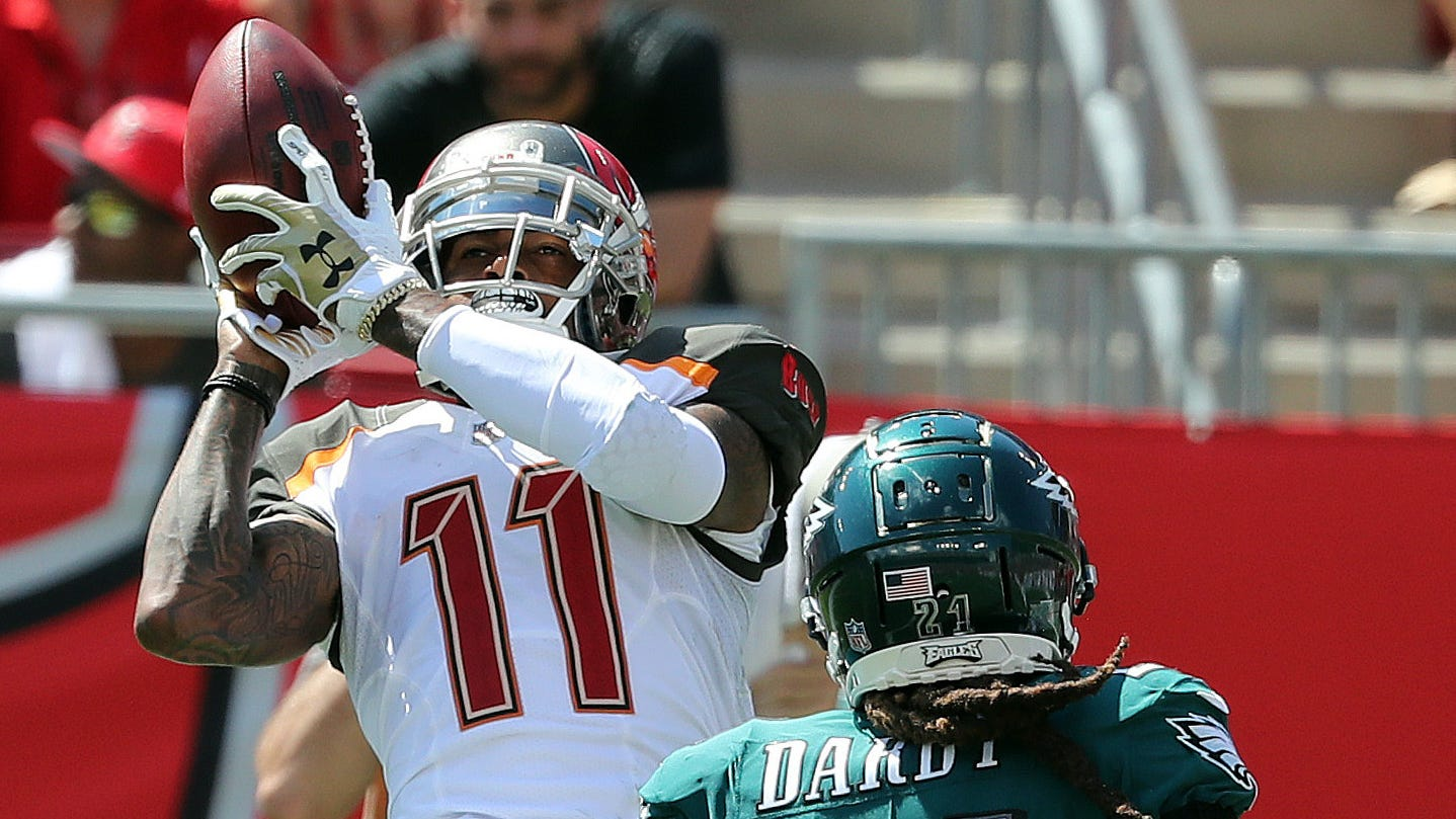 The speedy wide receiver will be leaving Tampa Bay for two late-round draft picks.