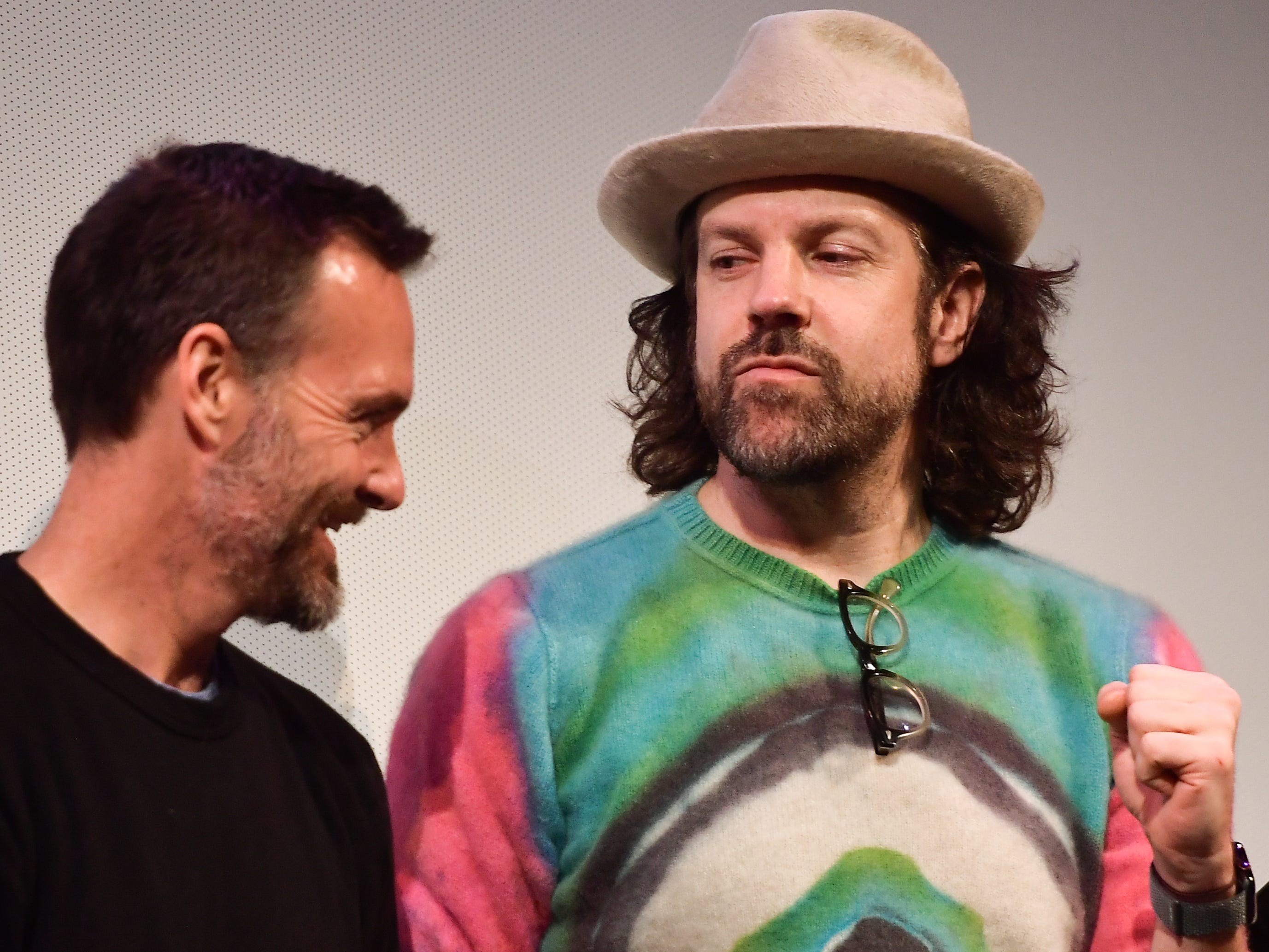 """Saturday Night Live"" alums Will Forte, left, and Jason Sudeikis reunite at the SXSW Festival premiere of ""Booksmart"" March 10 in Austin."