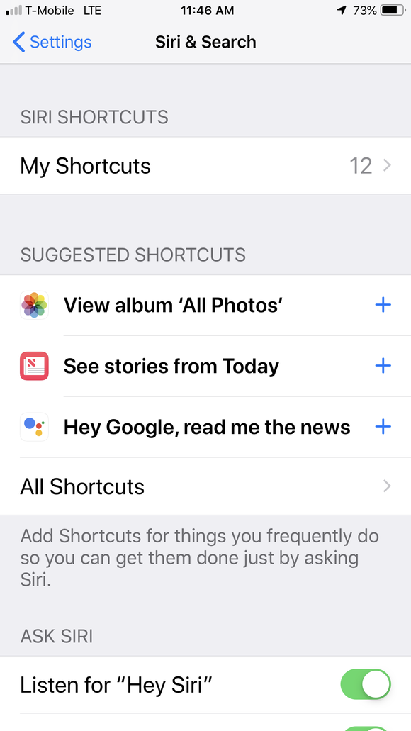 Screenshot of Apple General settings