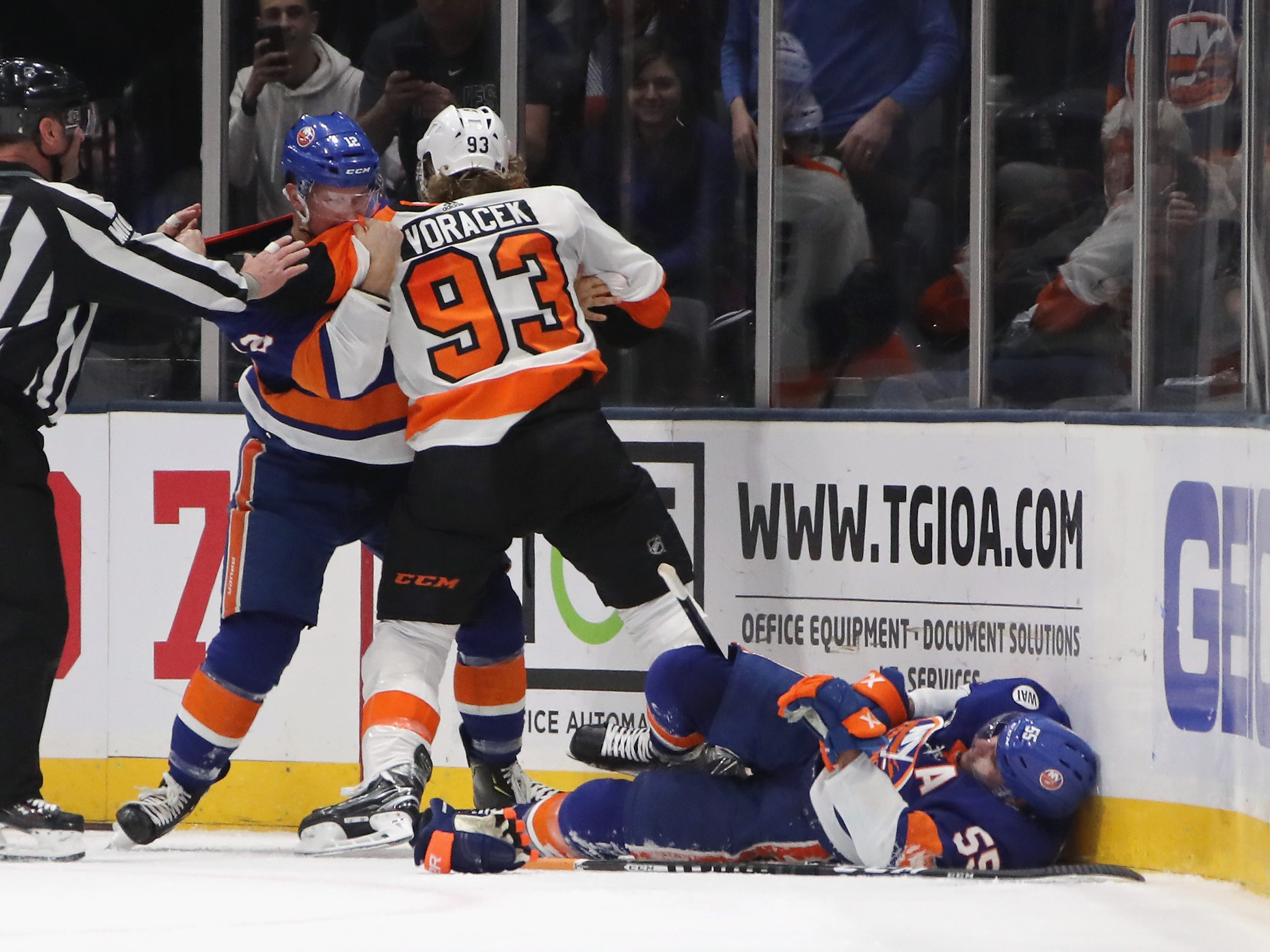 March 10: Philadelphia Flyers forward Jakub Voracek was suspended for two games for interference against New York Islanders defenseman Johnny Boychuk. Lost pay: $88,709.68.
