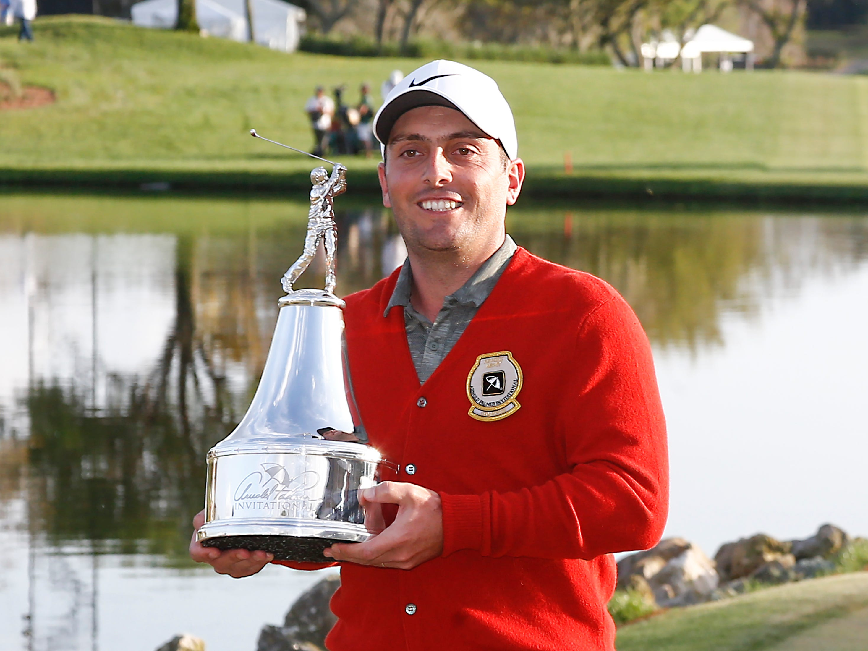 March 10:  Francesco Molinari celebrates his third career PGA Tour win at the 2019 Arnold Palmer Invitational golf tournament at Bay Hill Club & Lodge in Orlando.
