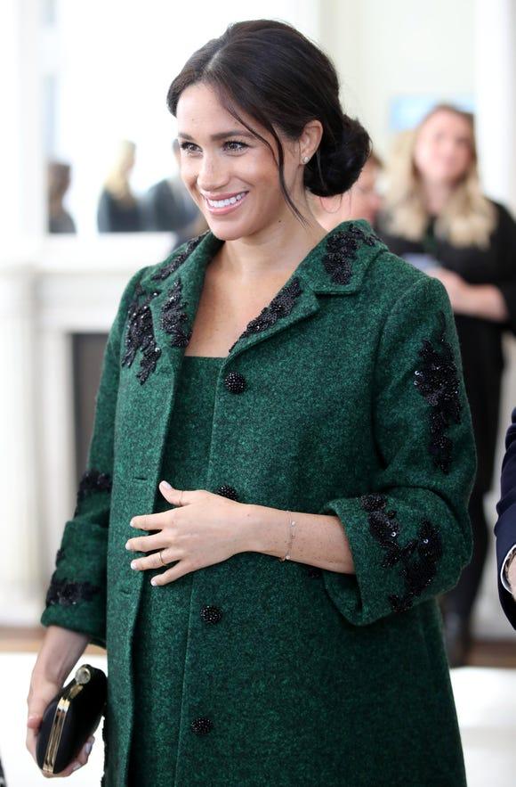 A closer look at Meghan's Erdem suit coat and dress.