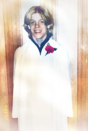 The author at his confirmation ceremony at St. Luke United Methodist Church in Sheboygan, Wisconsin. April 2002.