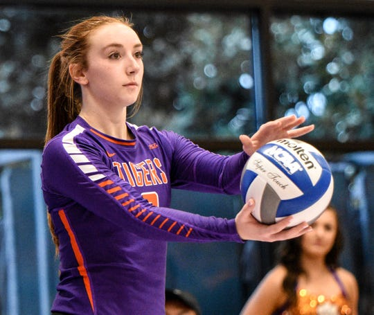 Clemson University setter Gabby Easton plays in a recent match at Clemson.