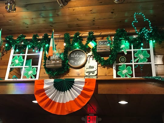 The Waters in New London is already decorated for St. Patrick's Day.