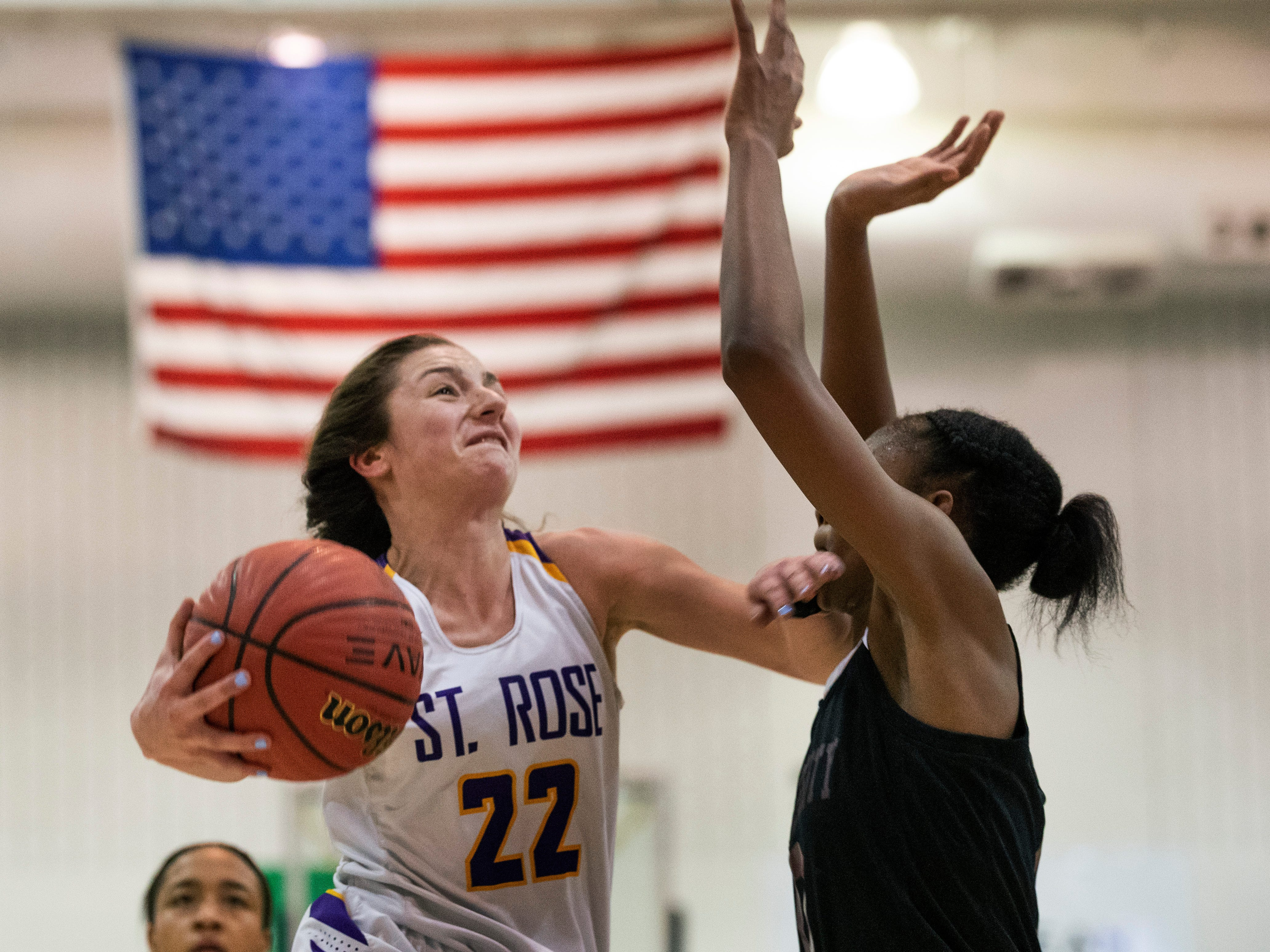 St Rose Girls Basketball vs University in Tournament of Champions opening round game in Toms River on March 12, 2019