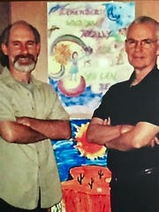 Lee deBarros and Chris in street chaplaincy office