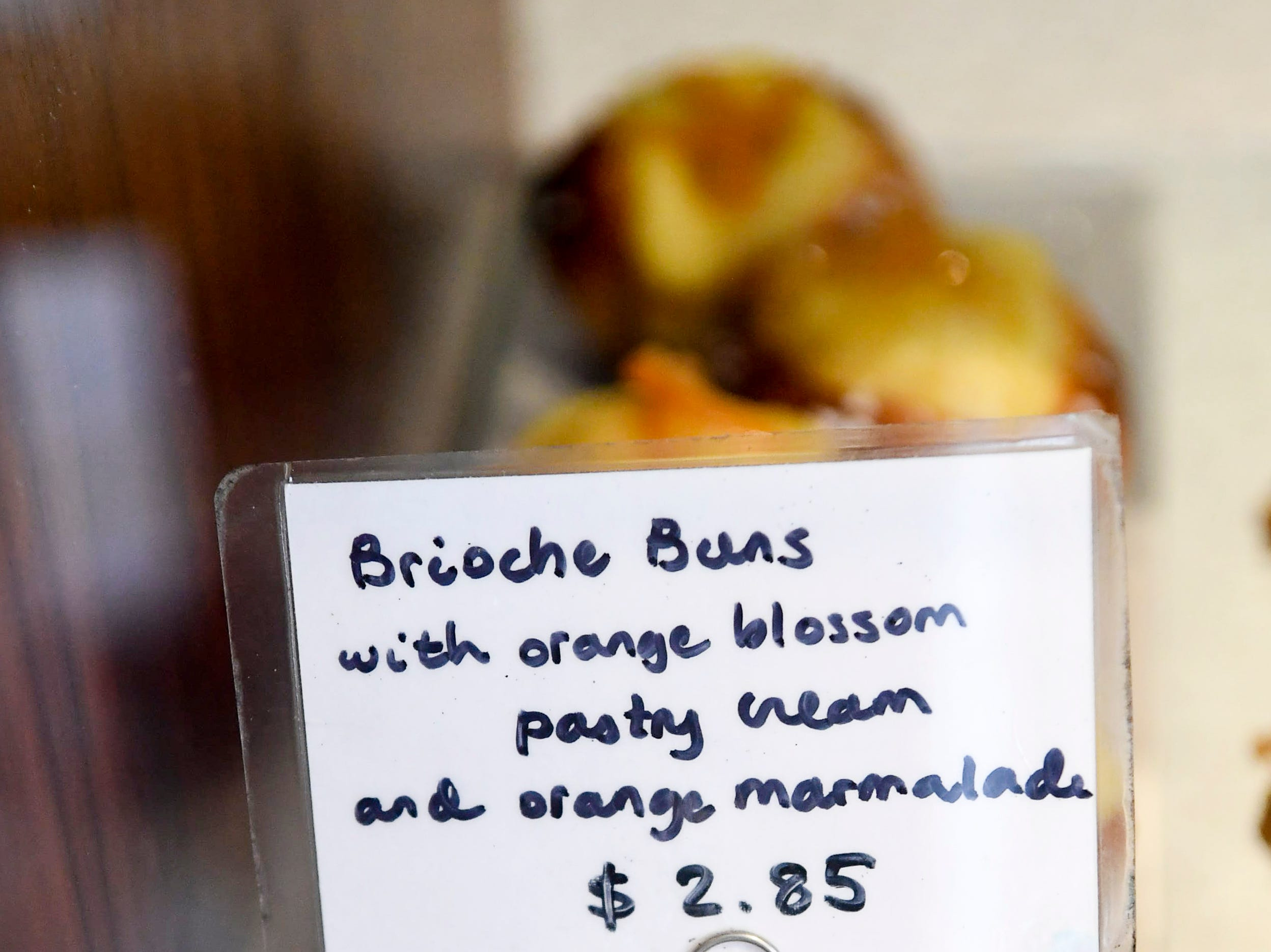 Pastries for sale at OWL Bakery in West Asheville March 7, 2019.