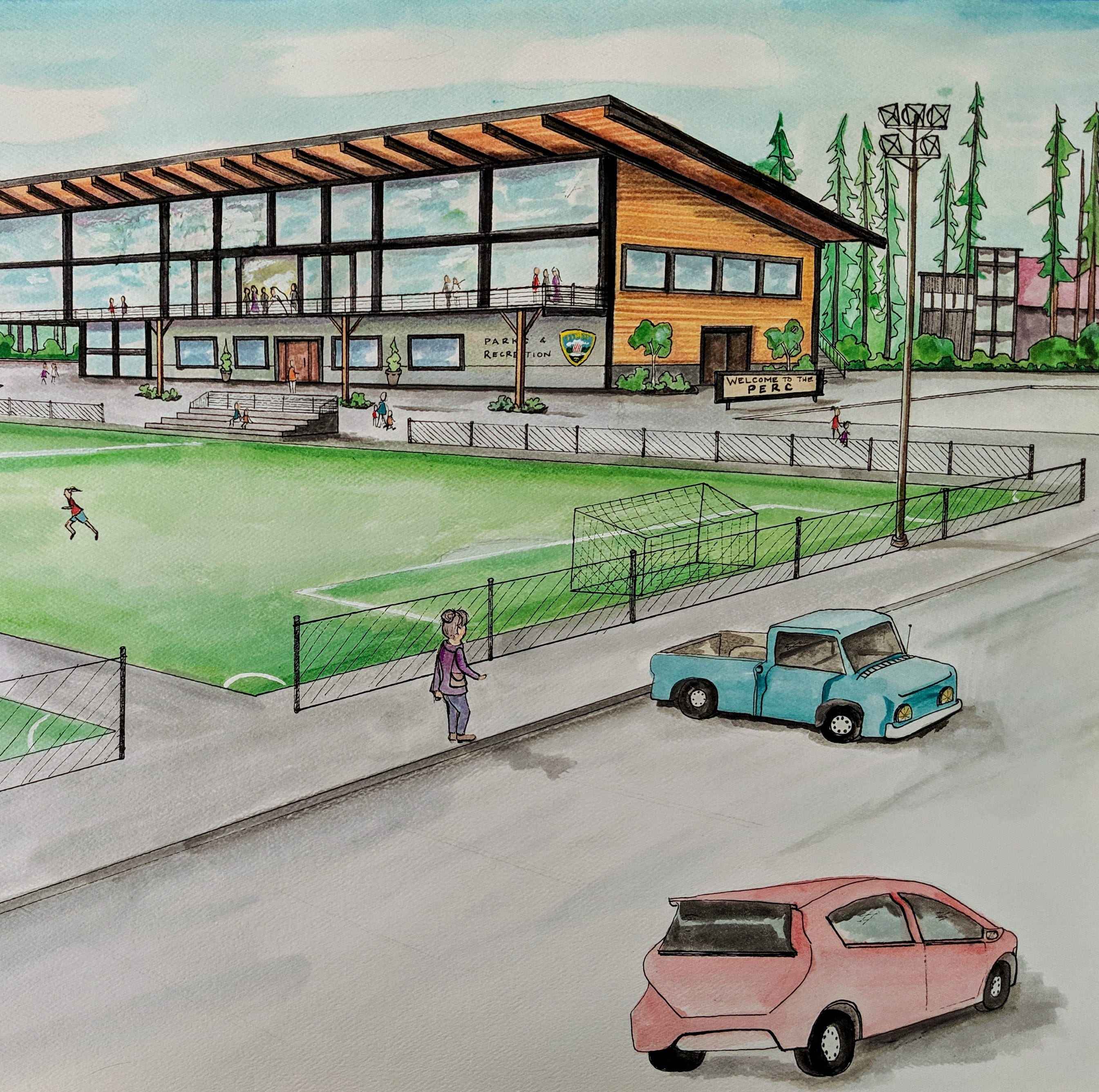 Poulsbo envisions $20 million event center in College Marketplace