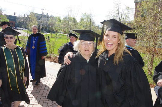 Author Katherine Paterson of Montpelier and rocker Grace Potter of Waitsfield received honorary degrees from Champlain College in 2016.