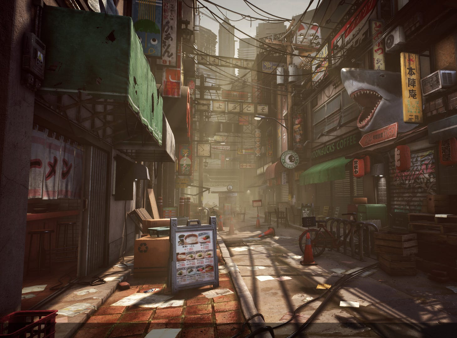 """Urban Street"" environment created by Michael Andreula, Game Art and Animation graduate of Champlain College. Andreula works at Vicarious Visions, in Albany."