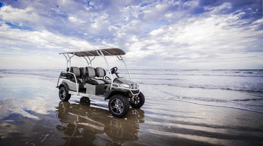 Top Deck Golf Carts is located at 3417 11th St. in Port Aransas. These carts are fancy and designed for comfort.