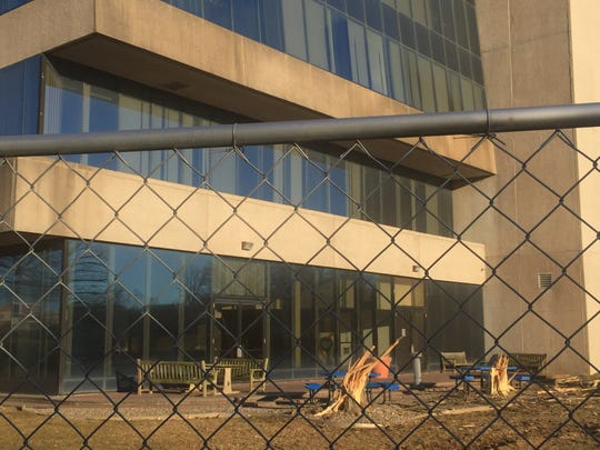 Subaru of America has fenced in its former headquarters off Route 70 in Cherry Hill.