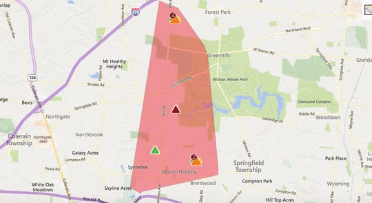 About 3,000 Duke Energy customers are without power Tuesday morning.