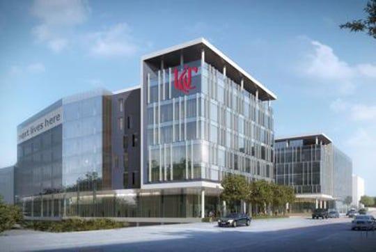 An artist's rendering of UC's Digital Futures Building in Avondale