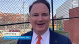 """FC Cincinnati foundation members, local leaders, and players gathered to introduce a new turf """"mini pitch"""" at the Lincoln Recreation Center in West End."""