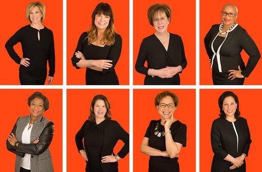 The honorees of the 2019 YWCA Greater Cincinnati Career Women of Achievement are: Stephanie L. Ferris, Jodi M Geiser, Marianne Flanders James, Sheila A. Mixon, Stefanie Newman, Molly North, Dr. Nita M. Walker, and Judge Marilyn Zayas.