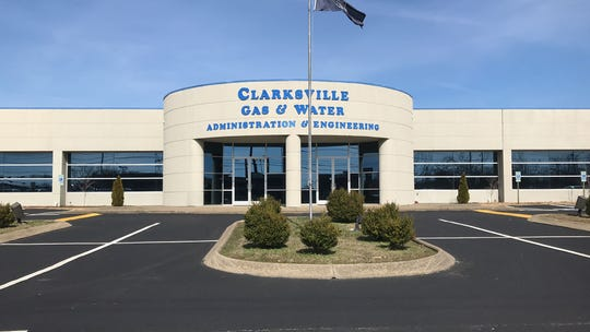 Clarksville Gas & Water building on Madison Street.