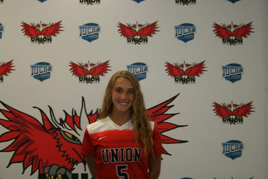 Union County College soccer player, Maya Lawler of Cranford named first team All-American.
