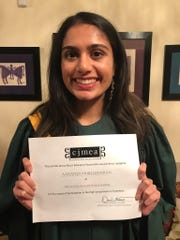 Aanandi Murlidharan of Edison, a senior at The Wardlaw+Hartridge School, represented the school for the third time in the New Jersey Treble Chorus
