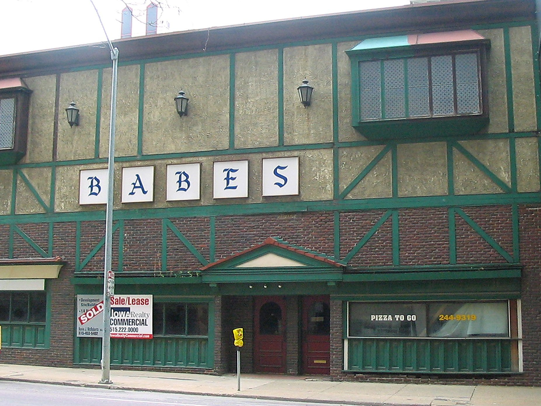 From 2004: The sign at lower left indicates the once-popular Babe's Restaurant on Sixth Avenue has been sold.