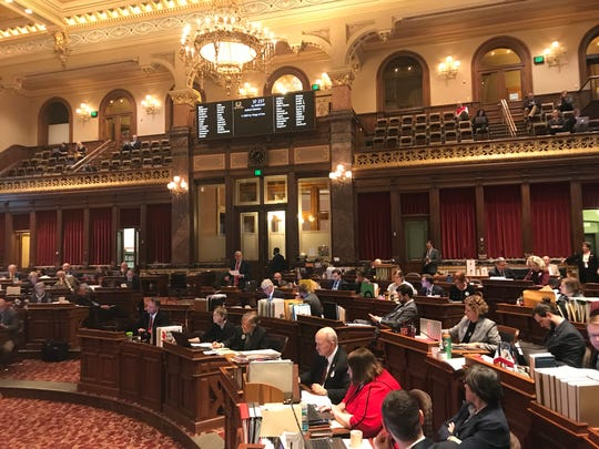 The Iowa Senate debates a bill that would give lawmakers and the governor more power over commissions that help select Iowa's judges. The chamber passed the measure on a party line vote of 32-17. It now goes to the House.