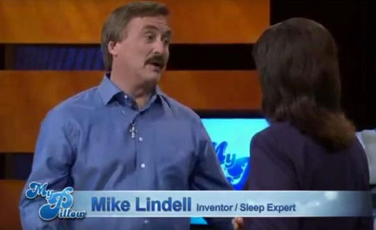 MyPillow founder Mike Lindell appears in the company's ads