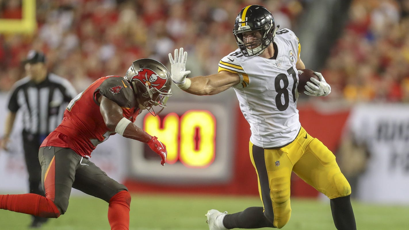 4baac4f5a52 Detroit Lions' Jesse James thinks he can fill bigger role