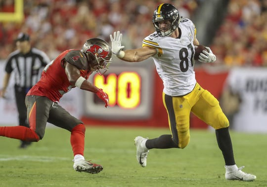 Jesse James has averaged 37.3 catches per year over the past three seasons.