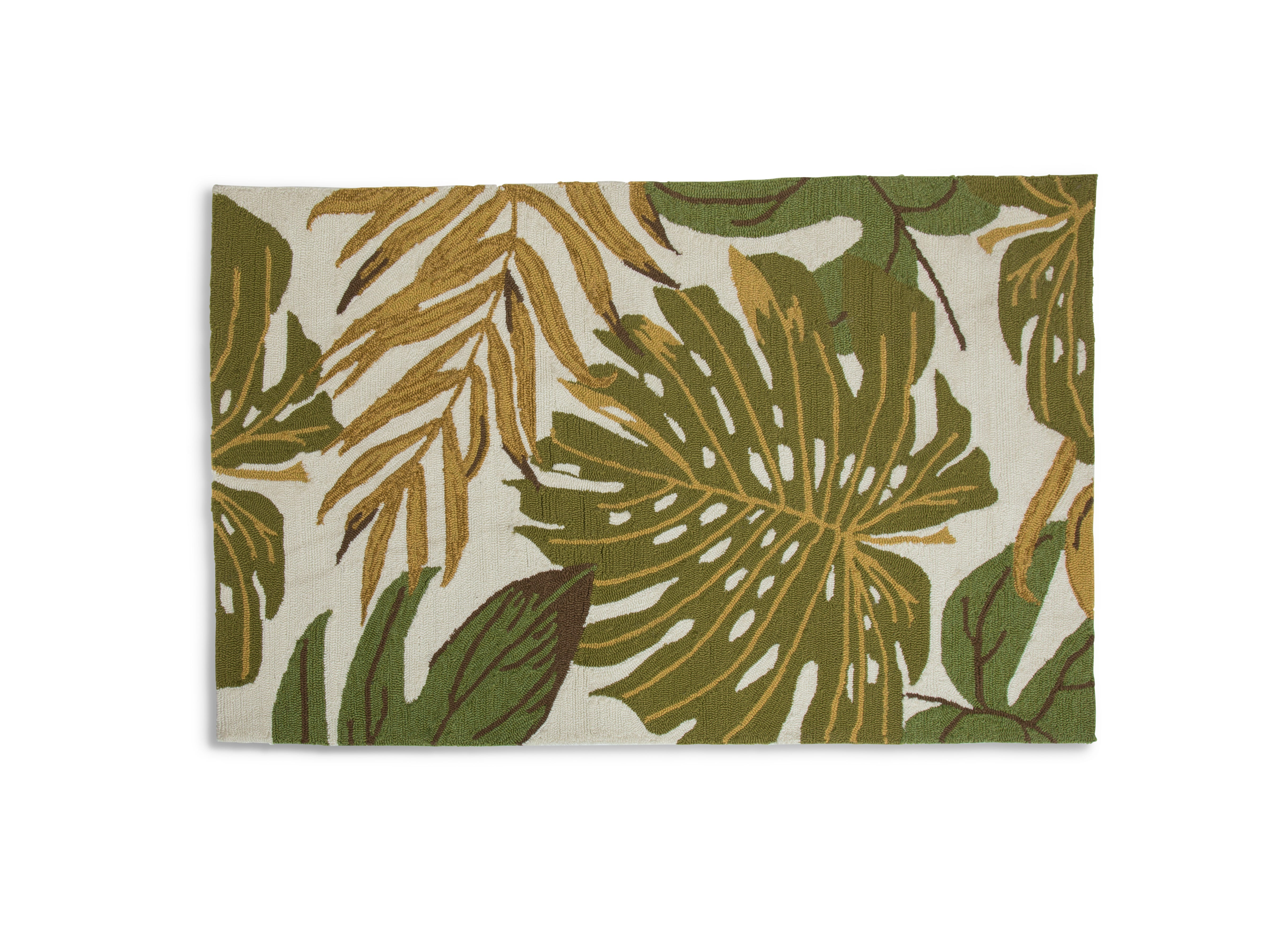 Another idea: change out rugs. This Tropical Palm Rug is available at Home Goods.
