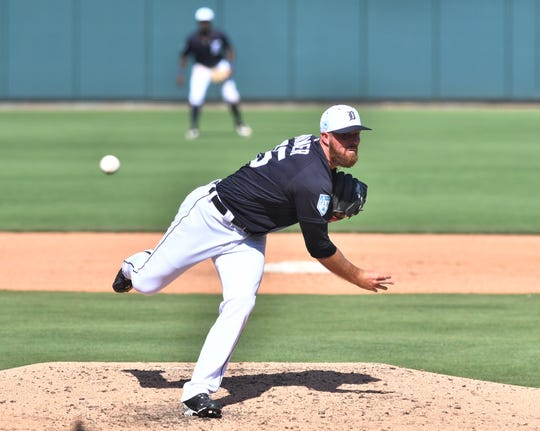 Tigers pitcher Buck Farmer is out of minor-league options as he fights for a spot on the roster.