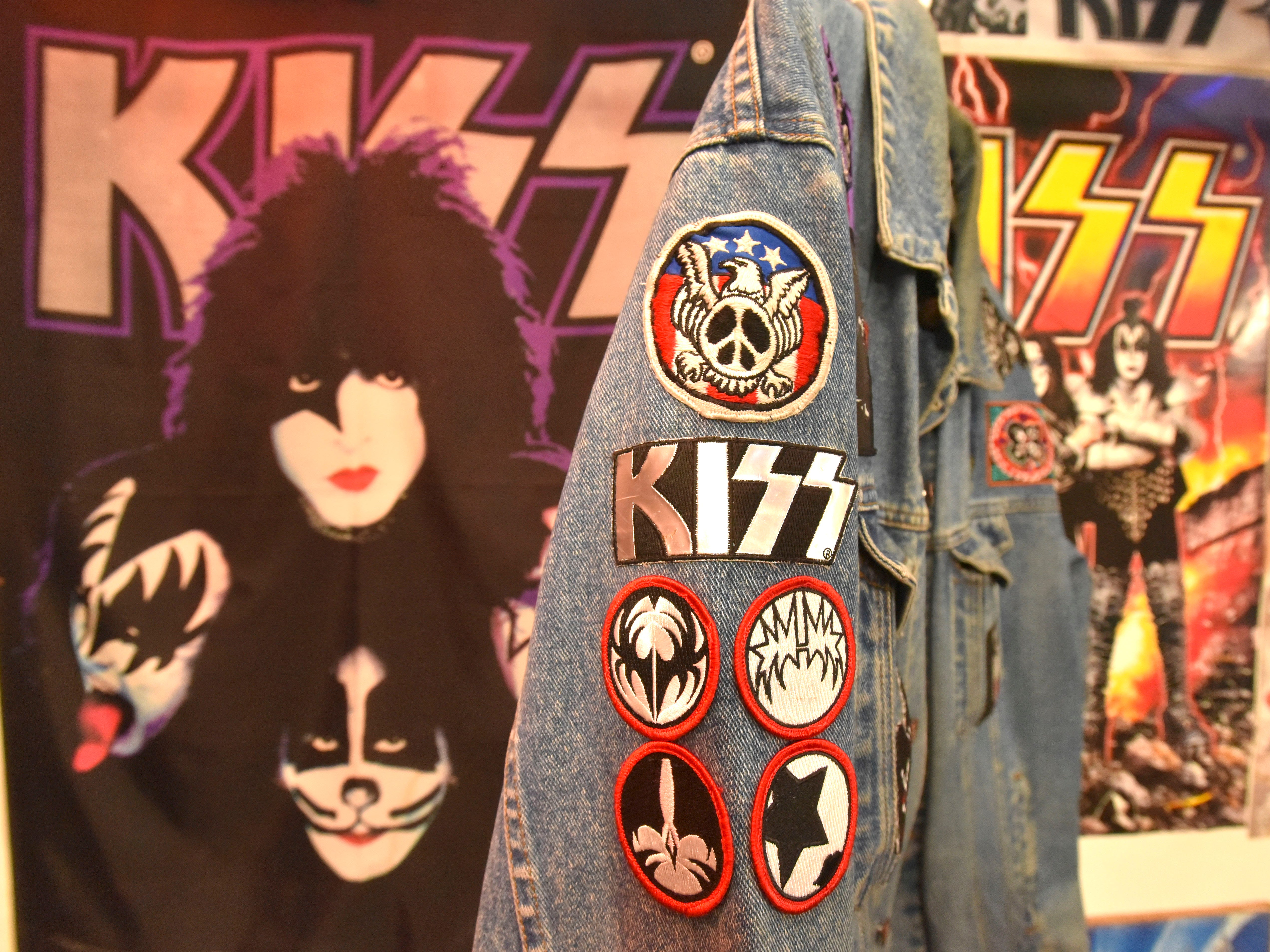 This is Pakulski's KISS jacket with 39 patches.