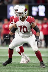 Offensive guard Oday Aboushi has played for five teams in seven seasons, most recently the Cardinals.