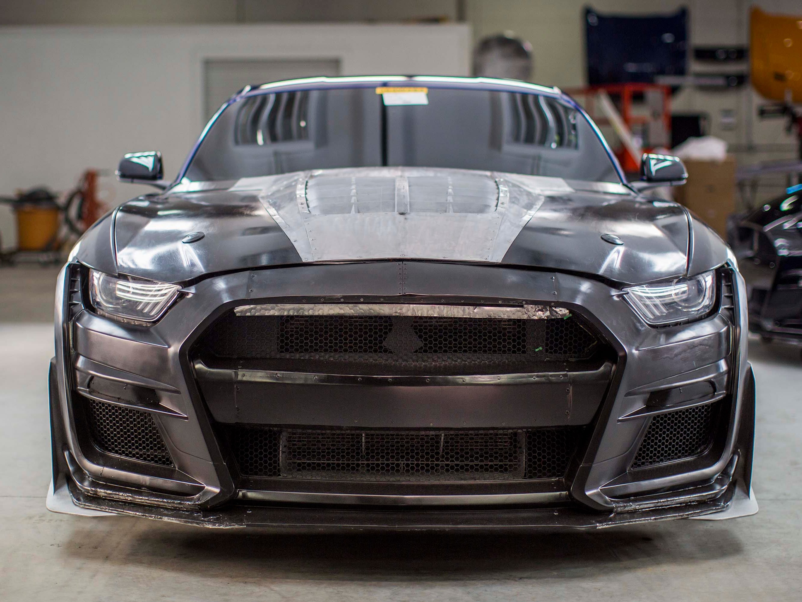 The front grille of the 2020 Ford Mustang GT500 is 50 percent larger than that on the already ferocious GT350. The supercharged GT500 will  generate another 200 horses over its sibling.