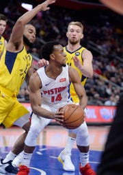 Pistons backup point guard Ish Smith is averaging 8.7 points and 3.5 assists, and hitting 35 percent on 3-pointers this season.