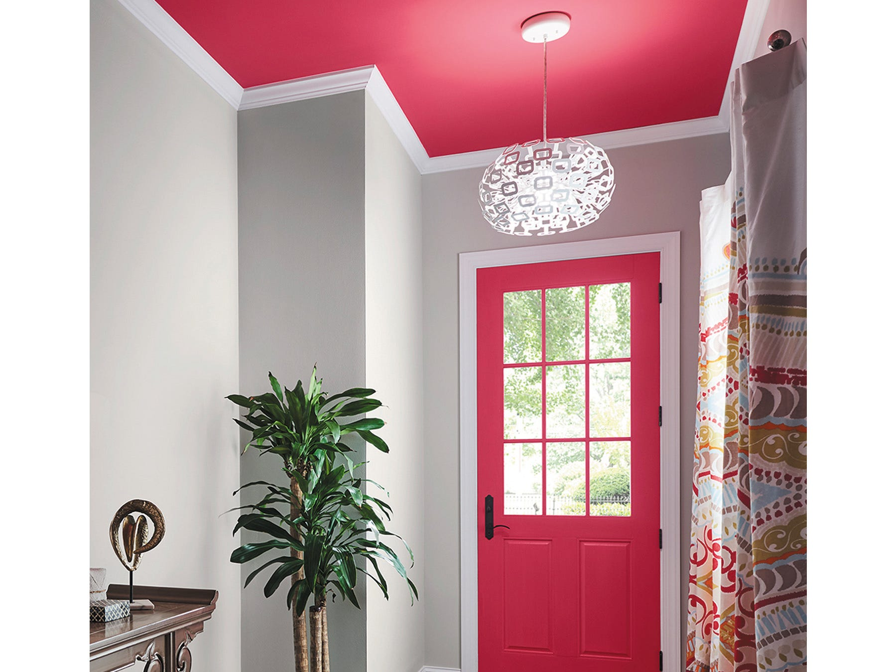 "For an even bigger change, try paint. ""Spring is the perfect time to embrace more color as nature around us begins to bloom,"" says Sue Wadden, Sherwin-Williams' director of color marketing. "" ""Subdued, floral pinks, such as Rosy Pictured is the retailer's Eros Pink, which ""can make a bold statement wall and create a contemporary vibe,"" says Wadden."