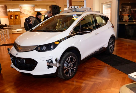The 2016 Chevrolet Bolt EV, the first-generation self-driving test vehicle, will take its place in The Henry Ford's car collection.  The museum announced General Motors' donation Tuesday in Dearborn.