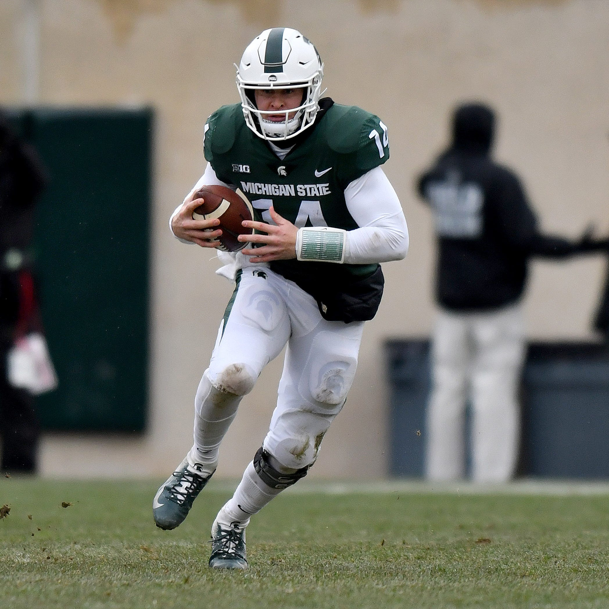 Michigan State quarterback Brian Lewerke feels 'pretty much 100%' after shoulder woes