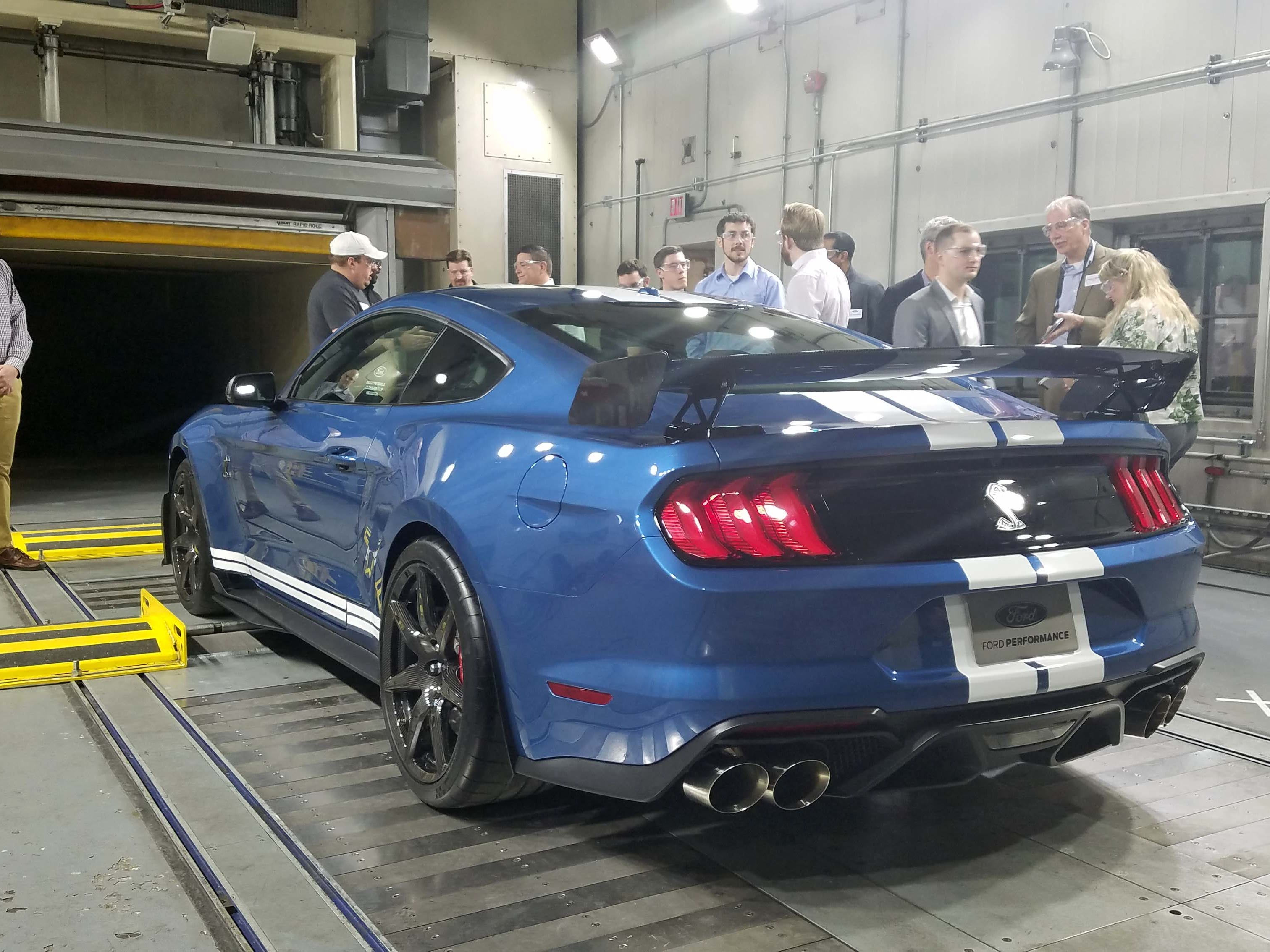 The 2020 Ford Mustang GT500 options a track editon with high rear wing taken off the company's GT4 race car. It helps the car develop 440 pounds of overall downforce.