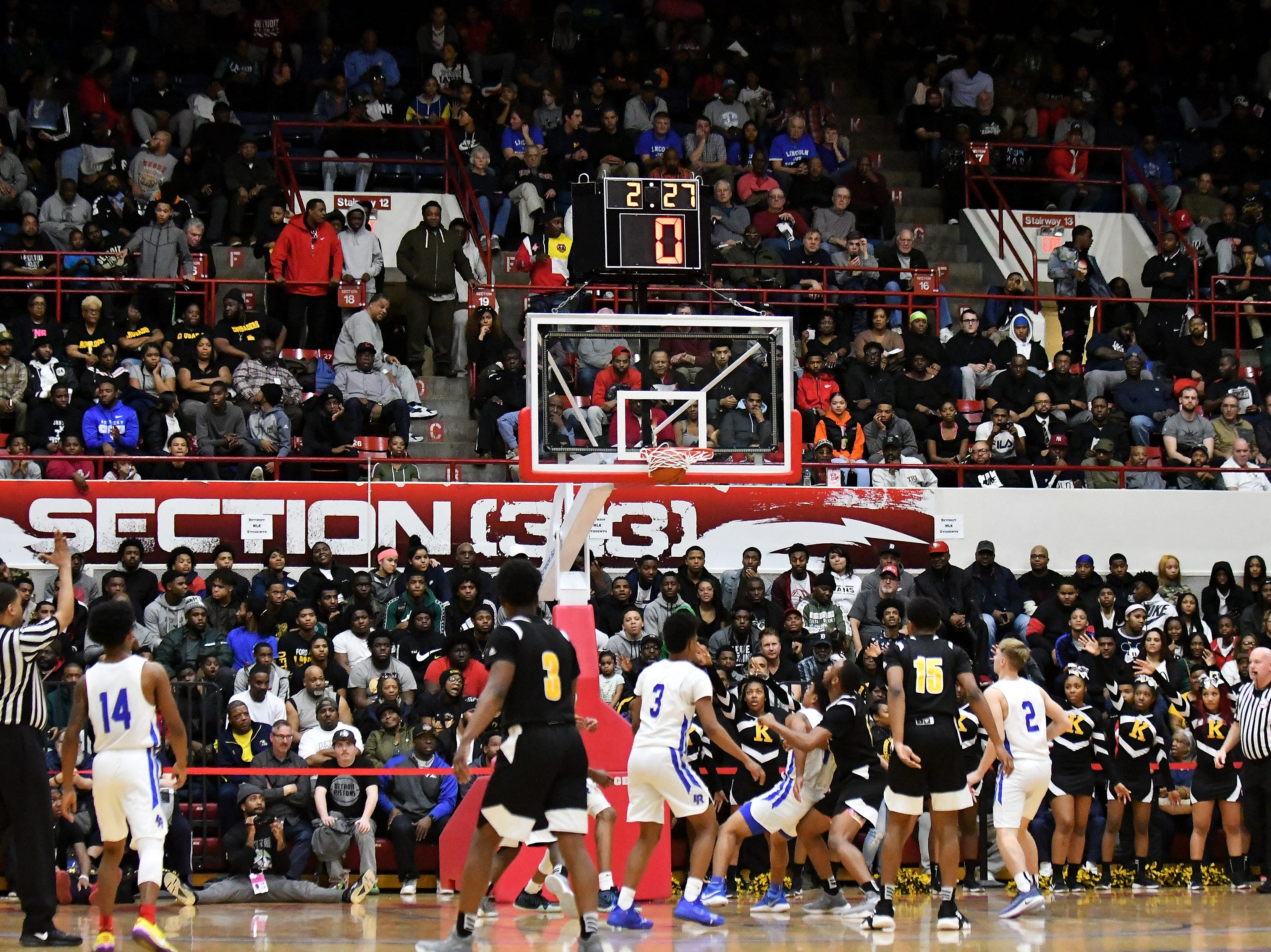 A packed house watches a King shot go in during the second half.