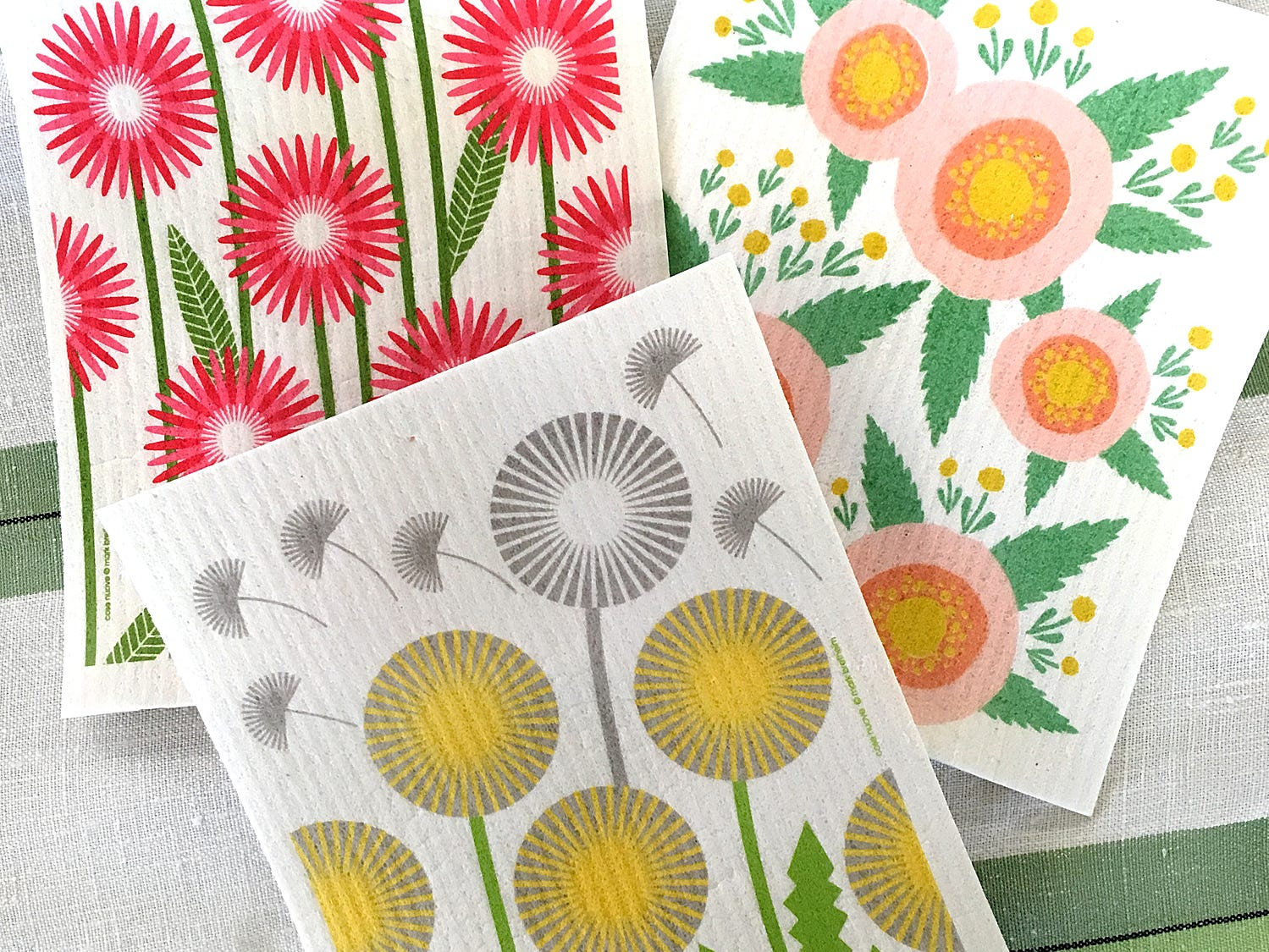 Dish cloths are another simple way to inject some spring into your home decor. This Swedish Dish Cloths are $6.50 at Green Daffodil in Ferndale.