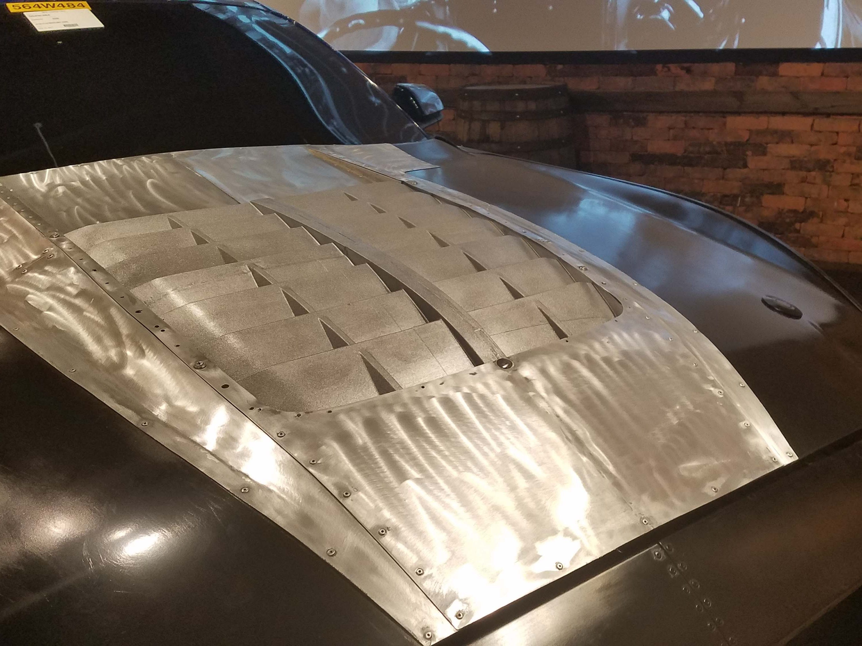 """The new Ford Mustang GT500 depended on extensive 3D printing to speed up the development process. The front end of the aero """"Buck"""" model was fitted with 3D printed pieces like this hood vent in order to simulate airflow in wind tunnel testing."""