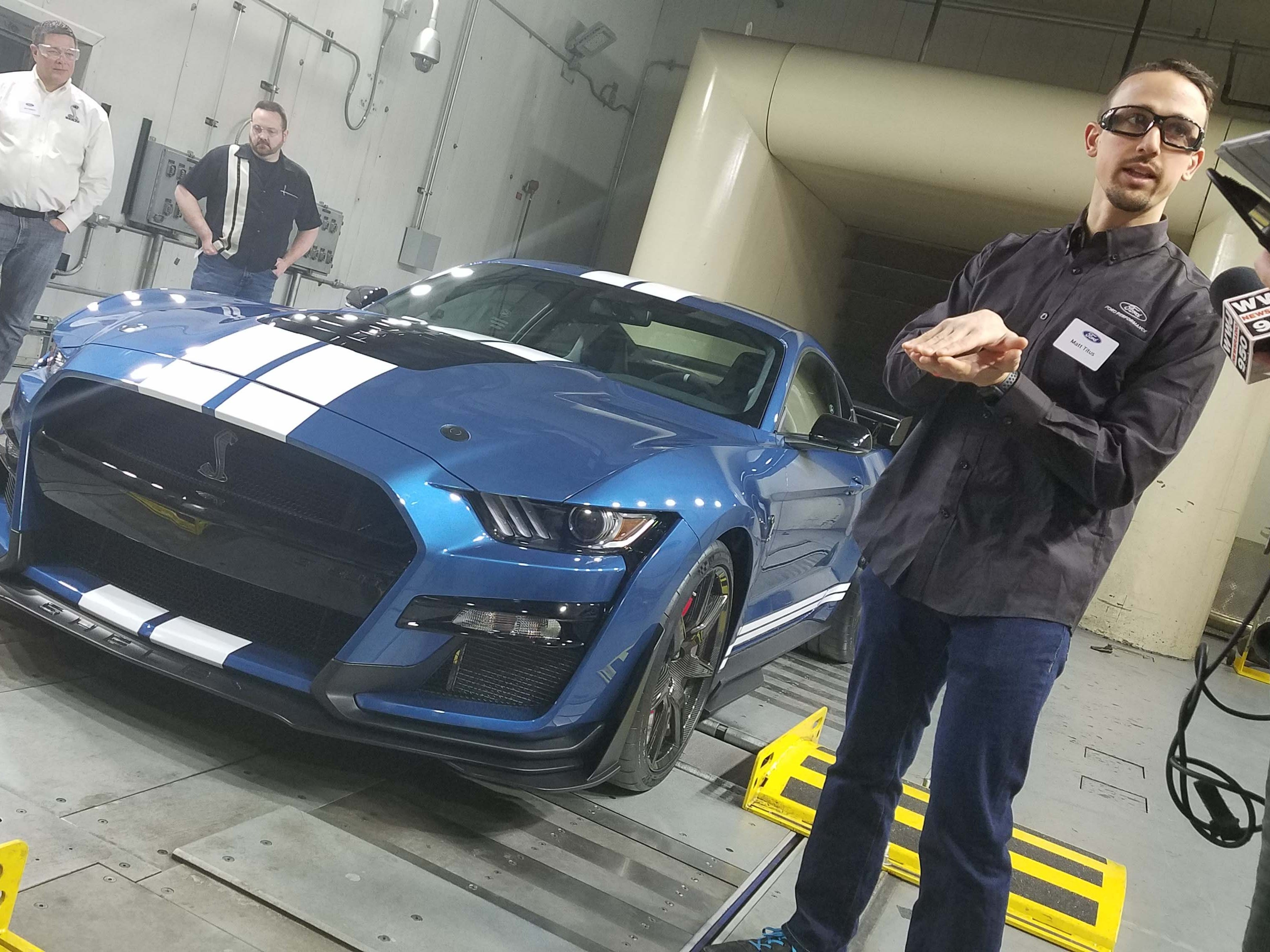 In Ford's Allen Park wind tunnel, aero engineer Matt Titus explains the details of fluid dynamics.