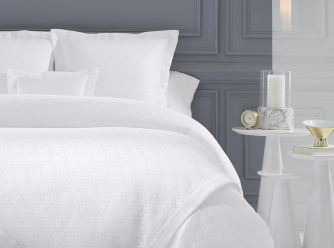 Change out bedding in the bedding. Steve Coval from Cristions, a high-end linens store in Birmingham, suggests switching from a down comforter to a coverlet as temperatures rise. And you can't go wrong with classic, timeless white.